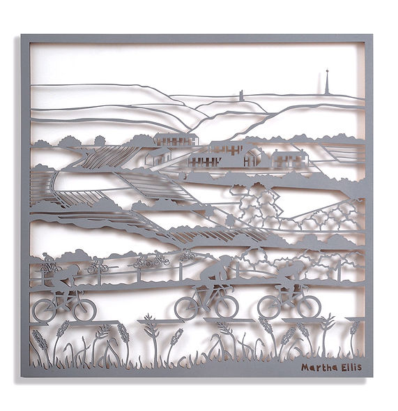 Martha Ellis Almost at the top laser cut drawing