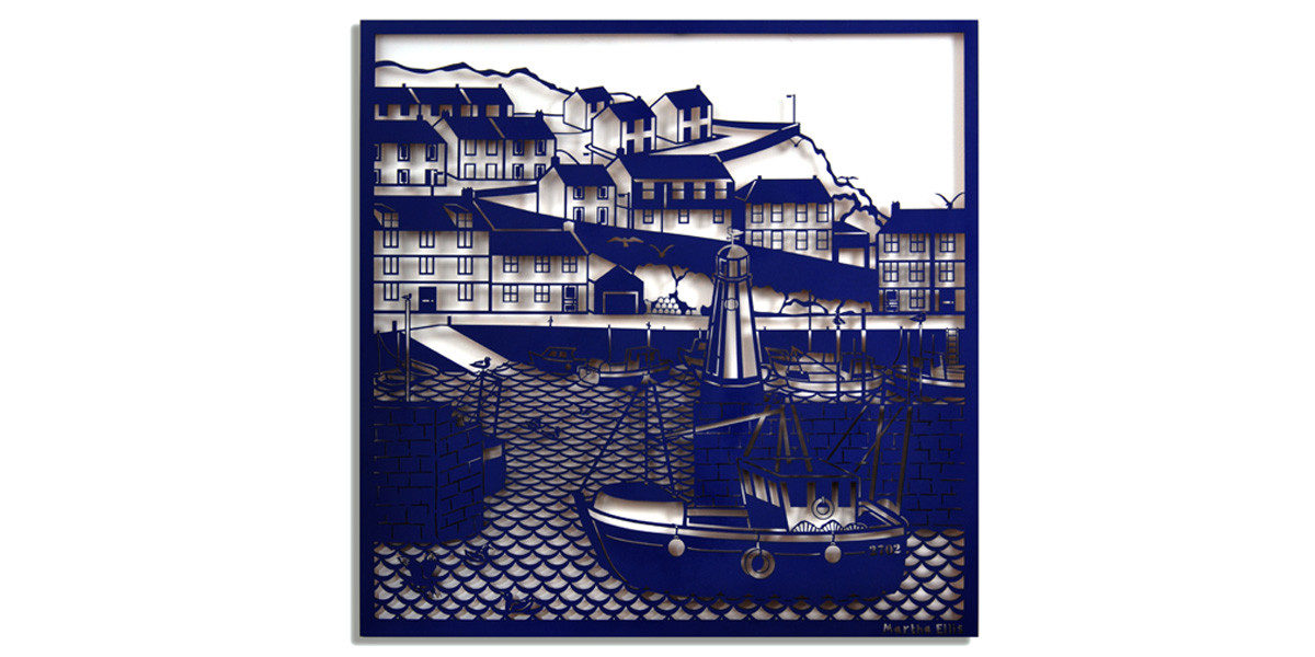 Martha Ellis The Harbour laser cut drawing