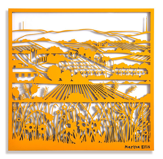 Martha Ellis Moorland flower laser cut drawing