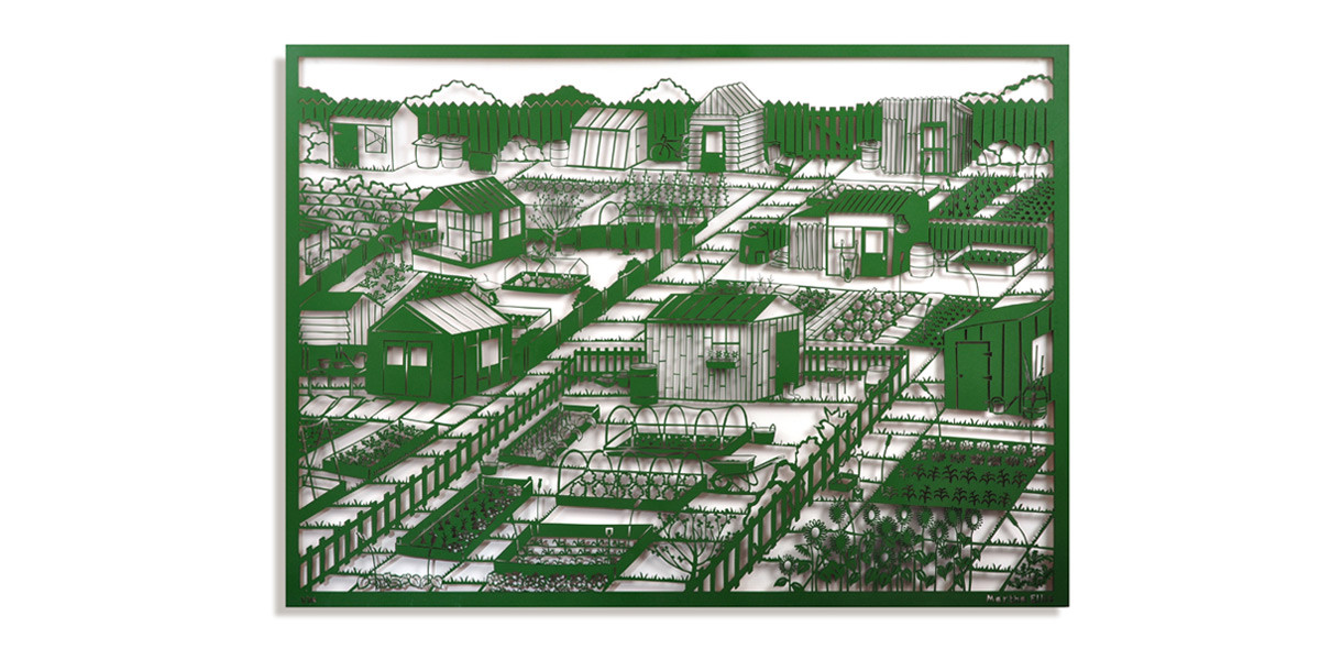 Martha Ellis Allotment laser cut drawing