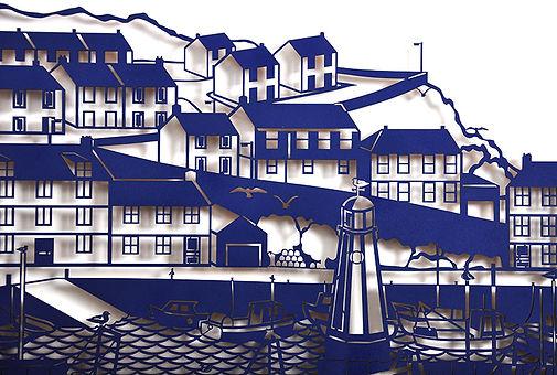 Martha Ellis The Harbour laser cut drawing