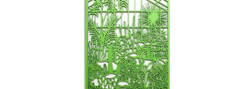 Martha Ellis Cactus House laser cut drawing