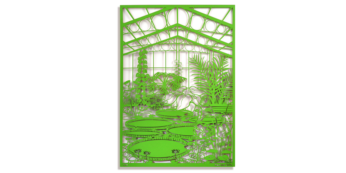 Martha Ellis Water Lilies laser cut drawing