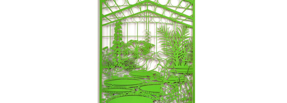 Martha Ellis Water Lilies laser cut drawing