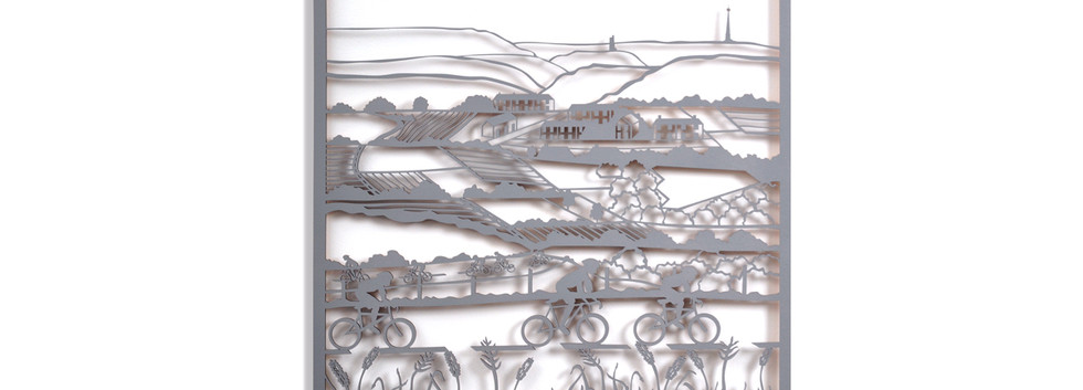 Martha Ellis Almost at the top laser cut drawing Yorkshire