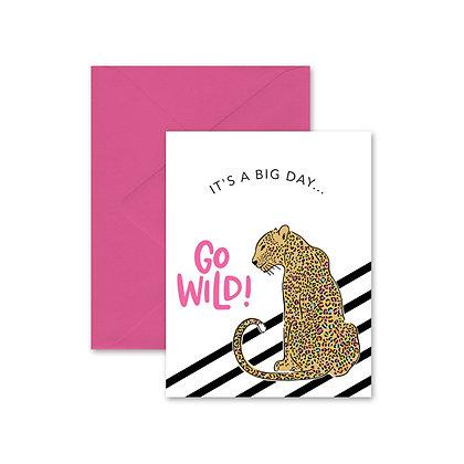 Go Wild Jaguar Greeting Card