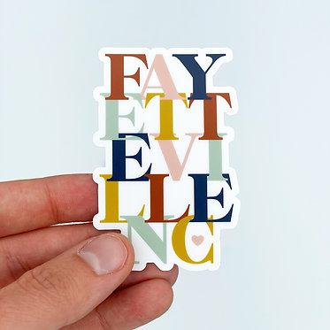 Fayetteville Type Sticker