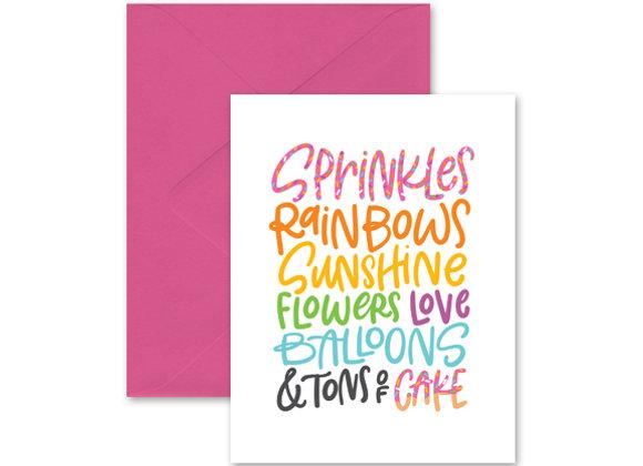 Sprinkles & Cake Greeting Card