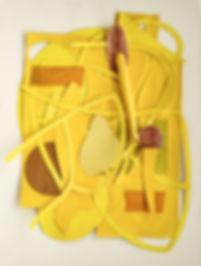 grauberg, kunst, collage, gelb, farbig, design, kasten-grauberg dresden