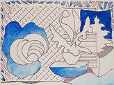 Anjuna 36, 24 x 32 cm, Zeichnung, koloriert