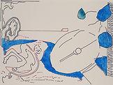 Anjuna 12, 24 x 32 cm, Zeichnung, koloriert