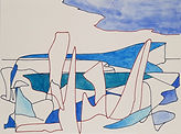Anjuna 38, 24 x 32 cm, Zeichnung, koloriert