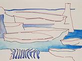 Anjuna 23, 24 x 32 cm, Zeichnung, koloriert