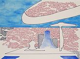Anjuna 48, 24 x 32 cm, Zeichnung, koloriert