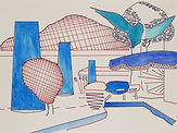 Anjuna 24, 24 x 32 cm, Zeichnung, koloriert