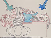 Anjuna 31, 24 x 32 cm, Zeichnung, koloriert