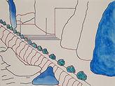 Anjuna 03, 24 x 32 cm, Zeichnung, koloriert