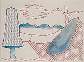 Anjuna 18, 24 x 32 cm, Zeichnung, koloriert