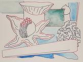 Anjuna 21, 24 x 32 cm, Zeichnung, koloriert