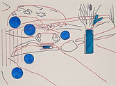 Anjuna 05, 24 x 32 cm, Zeichnung, koloriert