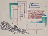 Anjuna 02, 24 x 32 cm, Zeichnung, koloriert