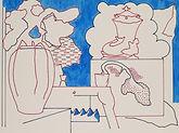 Anjuna 44, 24 x 32 cm, Zeichnung, koloriert