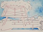 Anjuna 08, 24 x 32 cm, Zeichnung, koloriert