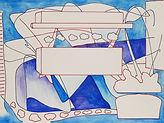 Anjuna 19, 24 x 32 cm, Zeichnung, koloriert