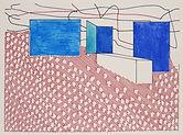 Anjuna 11, 24 x 32 cm, Zeichnung, koloriert