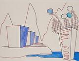 Anjuna 42, 24 x 32 cm, Zeichnung, koloriert