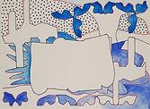 Anjuna 10, 24 x 32 cm, Zeichnung, koloriert