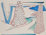 Anjuna 40, 24 x 32 cm, Zeichnung, koloriert