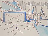 Anjuna 34, 24 x 32 cm, Zeichnung, koloriert