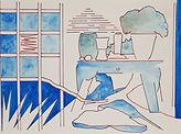Anjuna 07, 24 x 32 cm, Zeichnung, koloriert