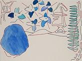 Anjuna 45, 24 x 32 cm, Zeichnung, koloriert