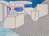 Anjuna 09, 24 x 32 cm, Zeichnung, koloriert