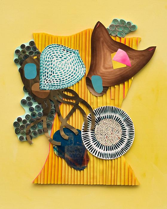 Grauberg, Kunst, Arbeit mit Papier, Collage, Kasten-Grauberg Dresden