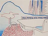 Anjuna 15, 24 x 32 cm, Zeichnung, koloriert