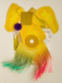Grauberg, Kunst, Arbeiten mit Papier, Collage, Kasten-Grauberg