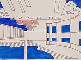 Anjuna 28, 24 x 32 cm, Zeichnung, koloriert
