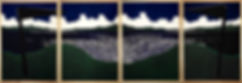 "Grauberg,""Ciypark"", Papierschablone 11, 4-teilig, 110x320 cm"