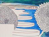 Anjuna 39, 24 x 32 cm, Zeichnung, koloriert