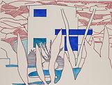 Anjuna 29, 24 x 32 cm, Zeichnung, koloriert