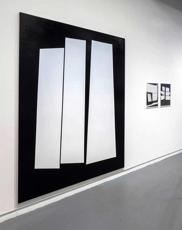 Projection Painting (Threshold), 2018, Handmade oil paint on linen, 84 x 66 inches