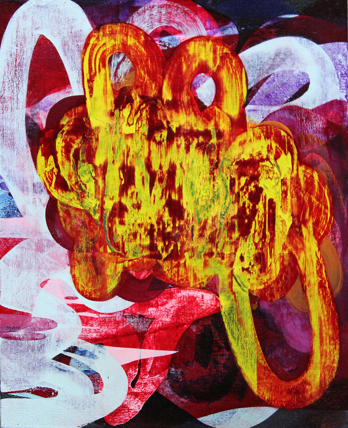Visions of Excess, 2011, Handmade oil paint on canvas, 24 x 20 inches
