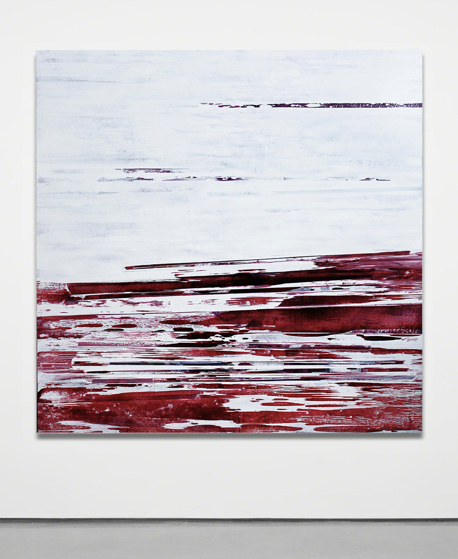 The Clearing, 2012, Handmade oil paint on canvas, 60 x 60 inches