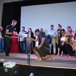 Maori WIFF drum gift.JPG