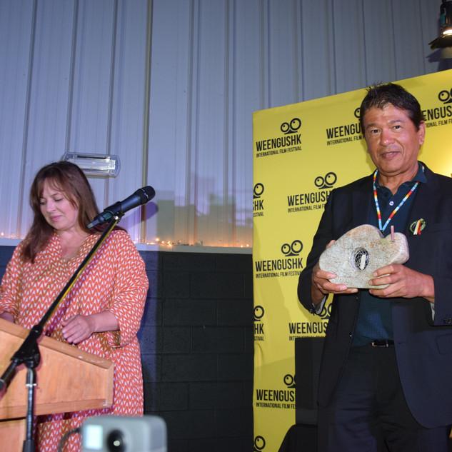 WIFF 2019 Ted Nolan Accepting Humanitarian Award