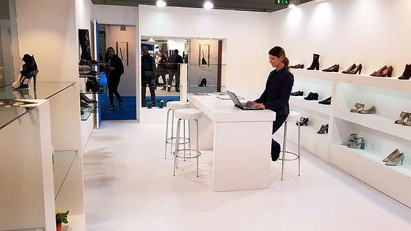 Lanzoni Francesco showroom at Micam Milan in February 2018