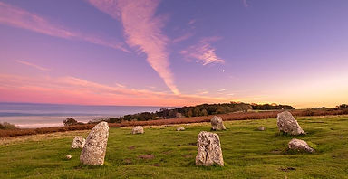 dusk over stone circle Wayward Spirit.JP